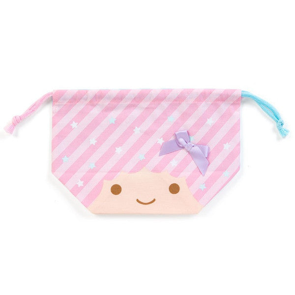 Little Twin Stars Lunch Box Drawstring Bag Pouch Face Sanrio Japan Kiki Lala