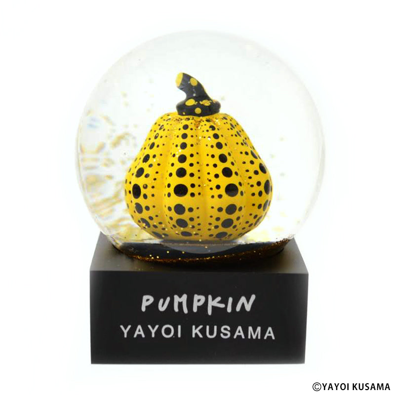 Snow Globe PUMPKIN Yellow Yayoi Kusama Japan