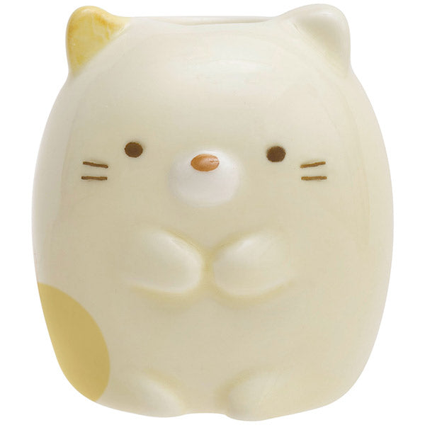 Sumikko Gurashi Neko Cat Pottery Toothbrush Stand San-X Japan