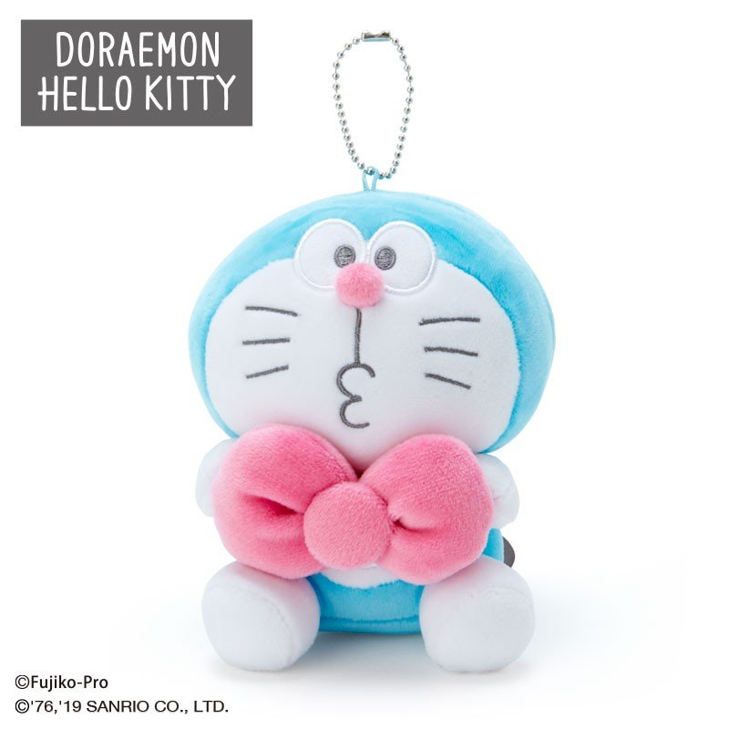 Doraemon Plush Mascot Holder Keychain Hello Kitty Sanrio Japan 2019