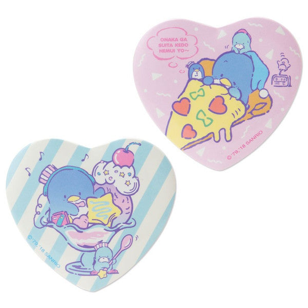 Tuxedosam Can Badge 2pcs Set Heart Cafe Wagon Sanrio Japan