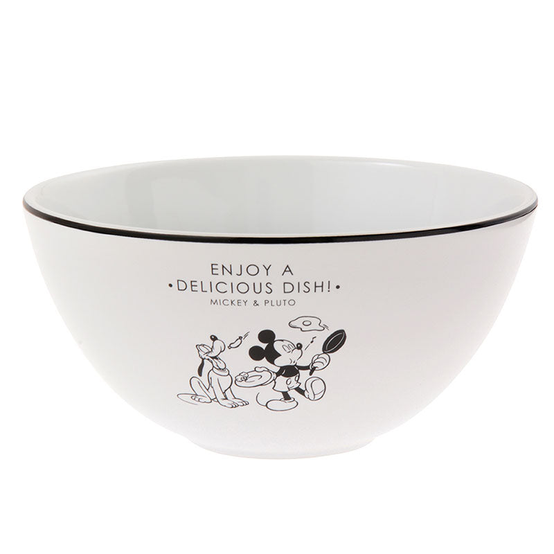 Mickey & Pluto Ceramic Bowl Otona Kitchen Disney Store Japan
