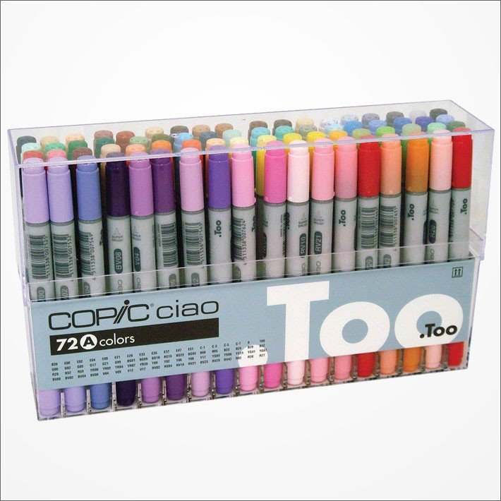 Copic Ciao Marker Pen 72 Colors A Set Japan Manga Comic Illustration