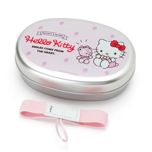 Hello Kitty Aluminum Lunch Box Bento M Strawberry Sanrio Japan