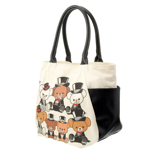 UniBEARsity Canvas Tote Bag 7th Anniversary Top Hat Disney Store Japan