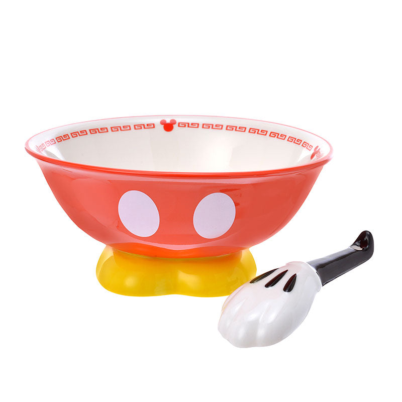 Mickey Ramen Bowl with Spoon Body Disney Store Japan