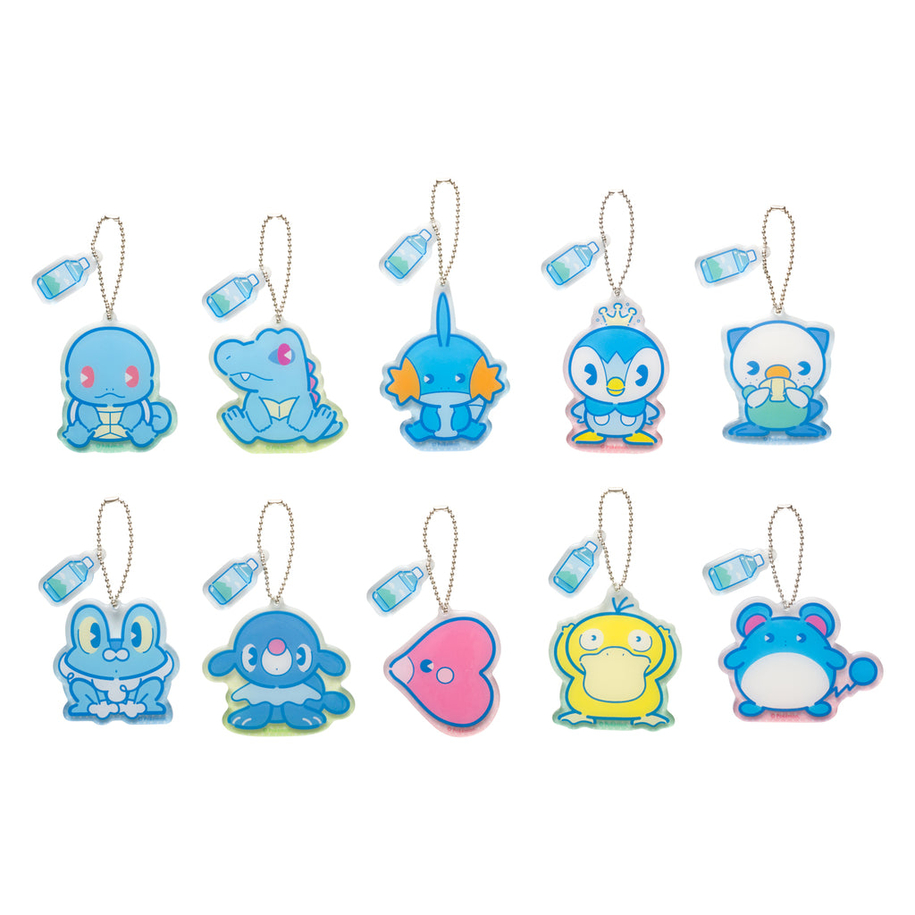 Acrylic Bag Charm 10 Full Set BOX Water type Pokemon Center Japan Original