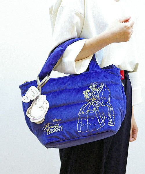 Beauty and the Beast Tote Bag ROOTOTE FEATHER ROO DELI SY Navy Disney Japan