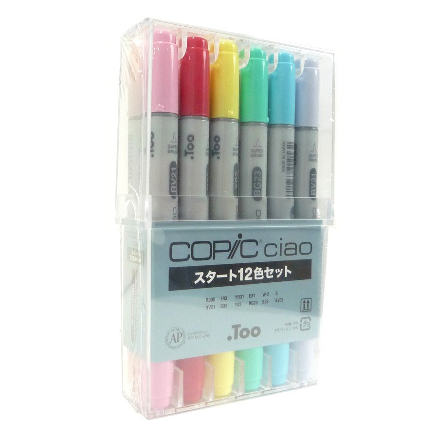 Too Copic Ciao Marker Pen 12 Colors Start Set Japan Manga Comic Illustration