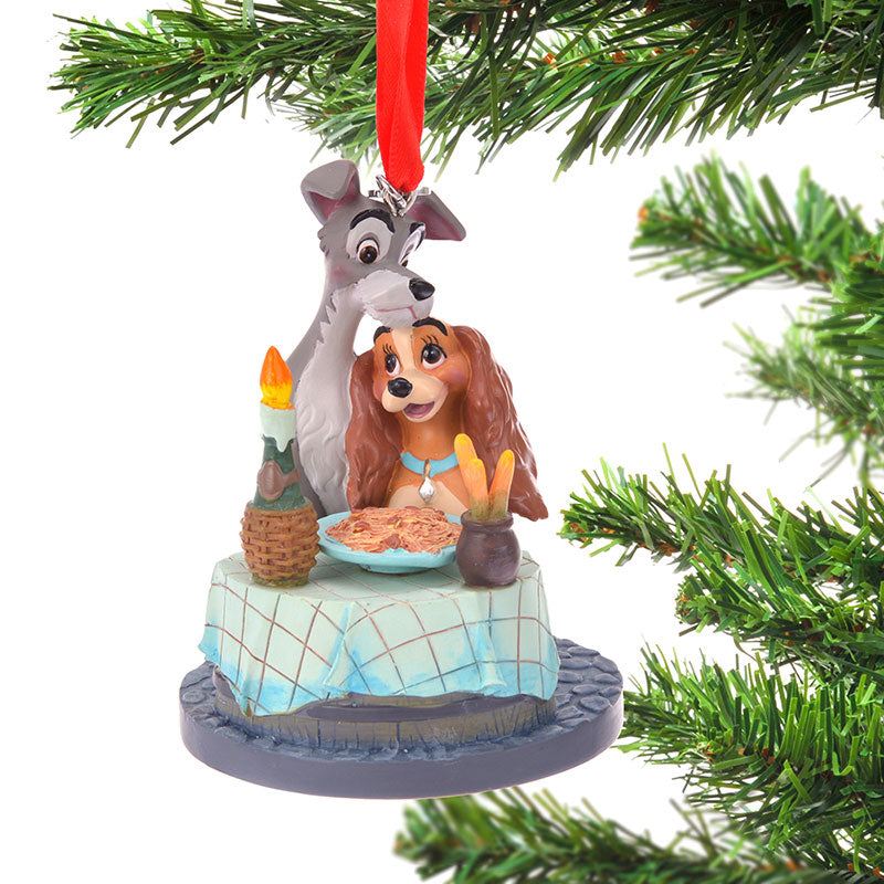 Lady and the Tramp Christmas Tree Ornament Disney Store Japan 2019