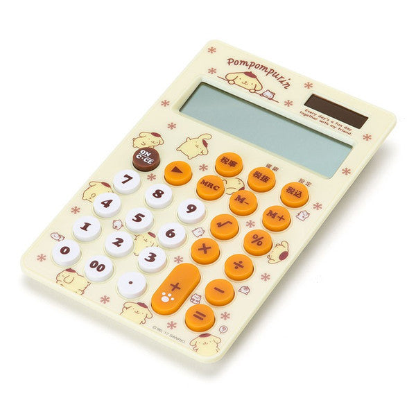 Pom Pom Purin Calculator 12 digit Flyer Sanrio Japan
