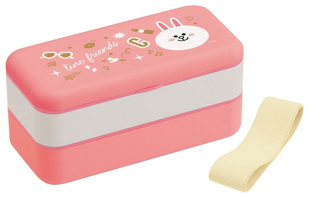 Cony Rabbit 2Stage Lunch Box Bento 600ml LINE FRIENDS Japan SLBW6