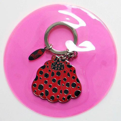 Yayoi Kusama Pumpkin Key Ring Keychain Red Japan Artist