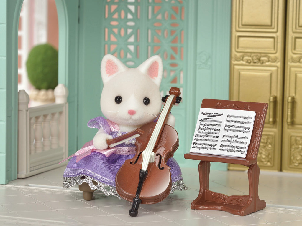 Town Cello Concert Set Silk Cat TS-04 Sylvanian Families Japan EPOCh