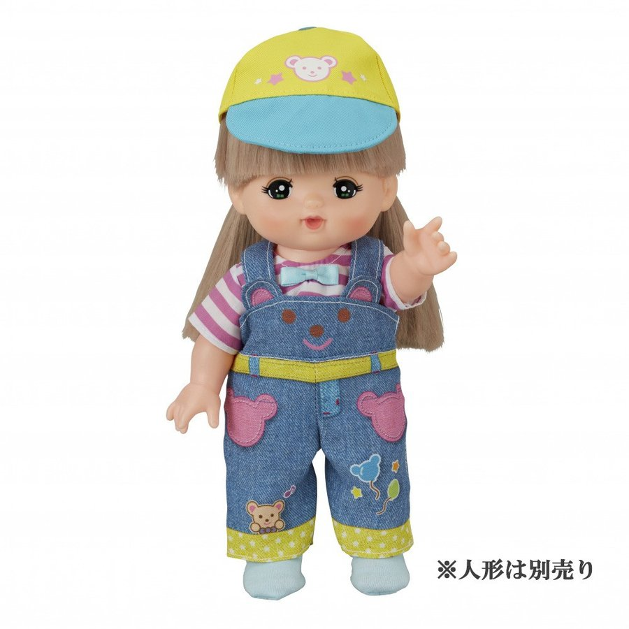 Costume for Mell chan Doll Bear Overalls Pilot Japan