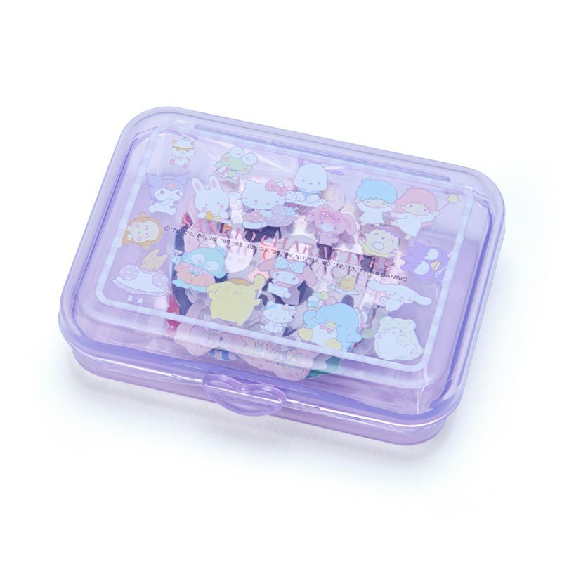 Sticker in Plastic Case Character A Sanrio Japan
