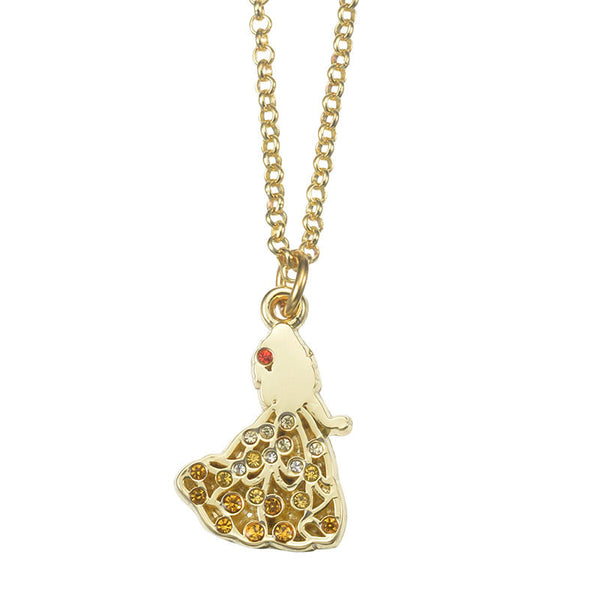 Belle Necklace ABISTE Disney Store Japan Beauty and the Beast
