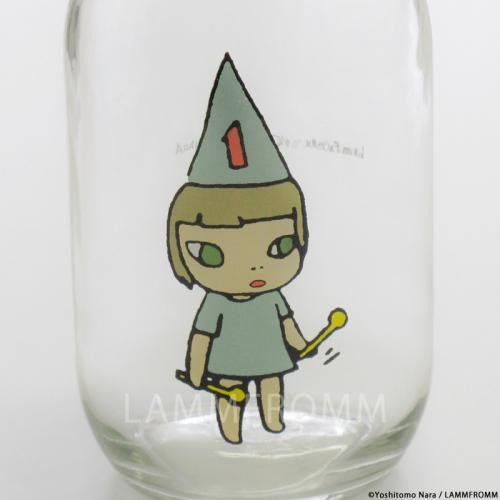 Yoshitomo Nara Glass Storage Jar L Girl 1 Blue Japan Art