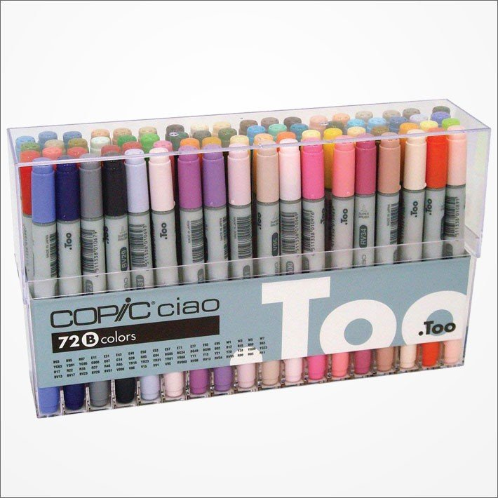 Copic Ciao Marker Pen 72 Colors B Set Japan Manga Comic Illustration