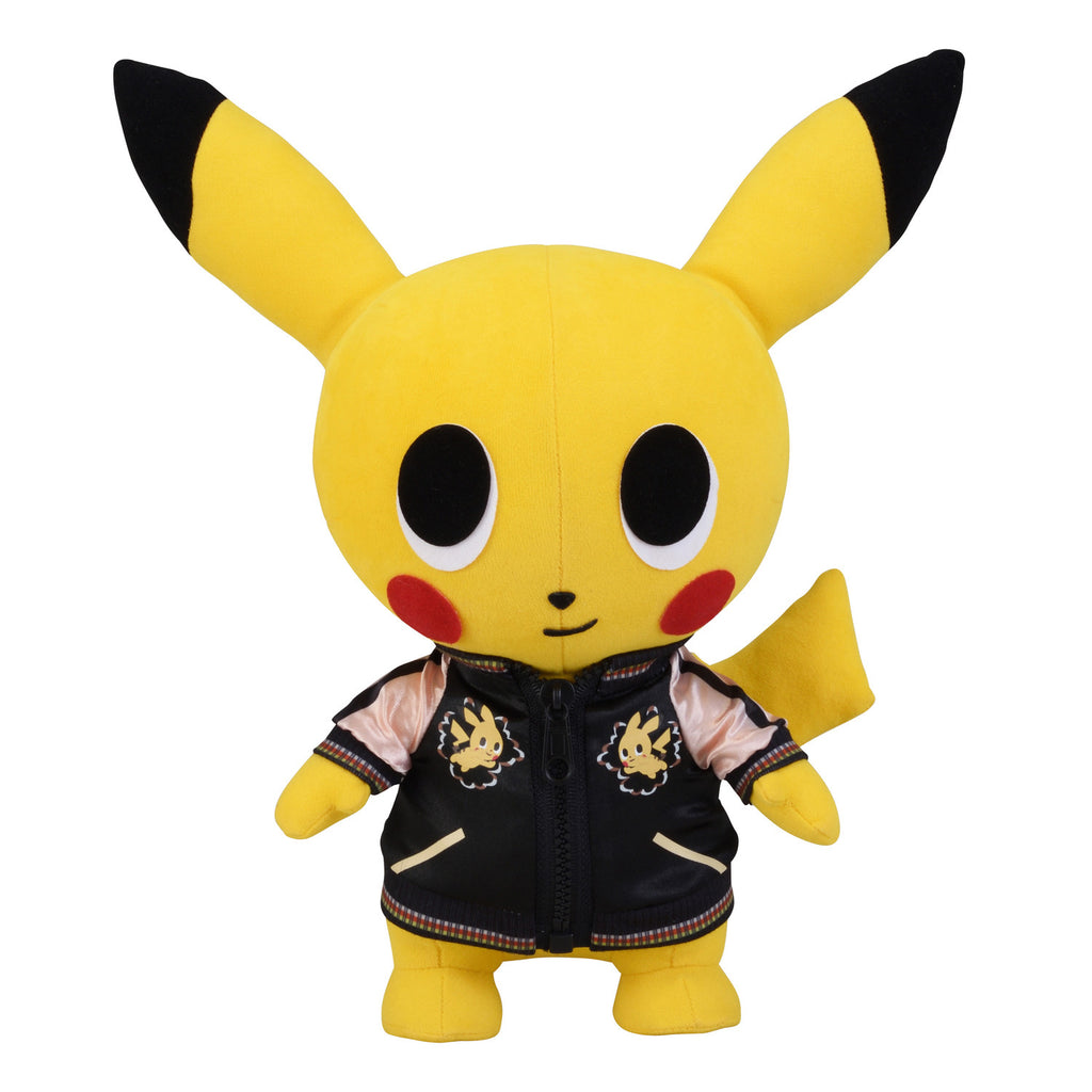 Pikachu Plush Doll Satin Souvenir Jacket pokemon time Japan Pokemon Center