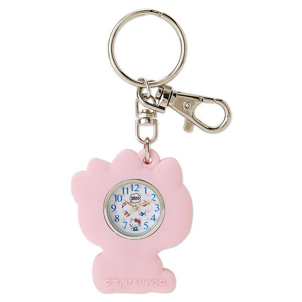 Hello Kitty Rubber Keychain Watch Sanrio Japan