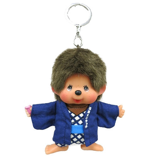 Monchhichi Mascot Holder Keychain Hot Spring Onsen Yukata Japan