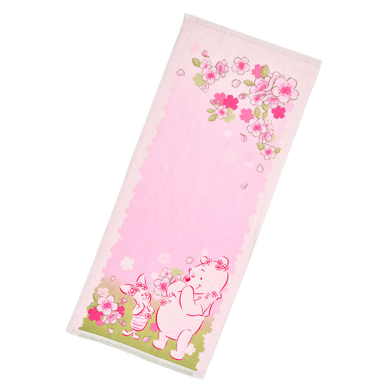 Winnie the Pooh & Piglet Face Towel Sakura 2020 Disney Store Japan