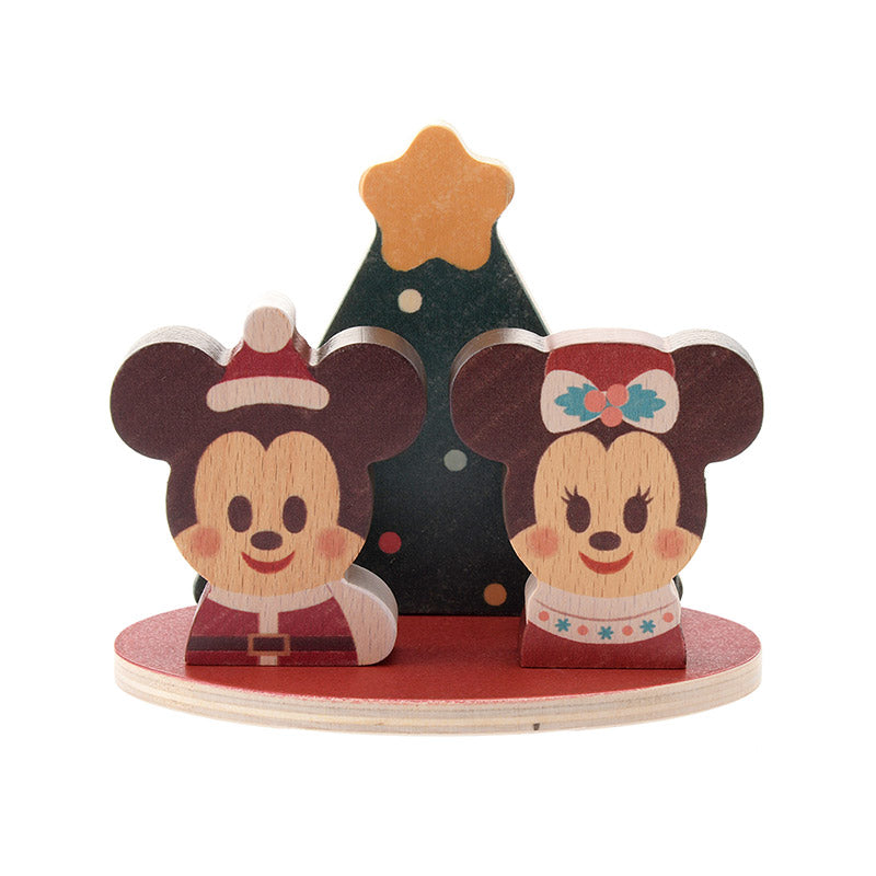 Mickey Minnie KIDEA Toy Wooden Blocks Christmas Special Disney Store Japan 2018