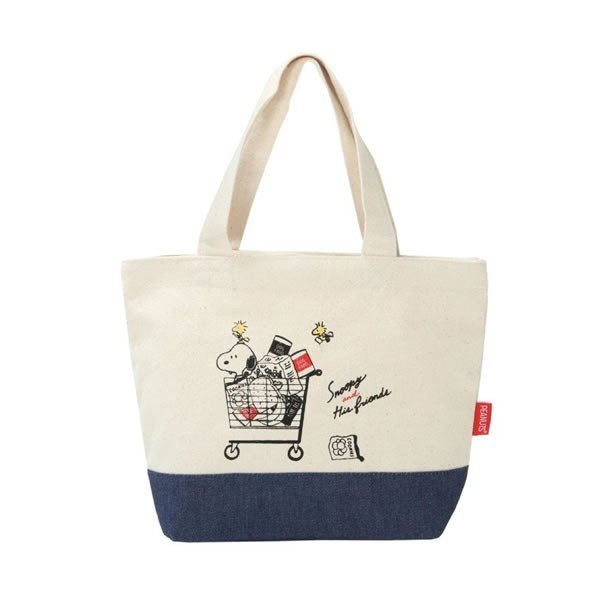 Snoopy mini Tote Bag CART Classic PEANUTS Japan