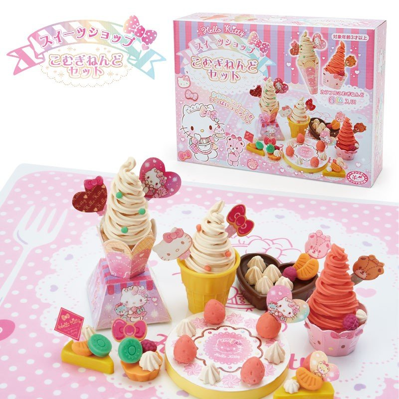 Hello Kitty Wheat Clay Toy Set Sweets Sanrio Japan