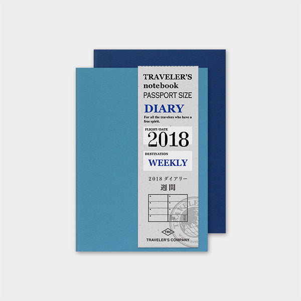 Refill Diary 2018 Weekly Passport Size TRAVELER'S Notebook Japan