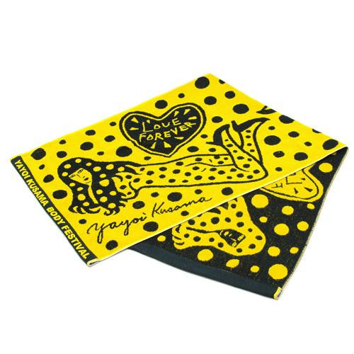 Yayoi Kusama BODY FESTIVAL Towel Pumpkin Yellow Japan Artist RARE!