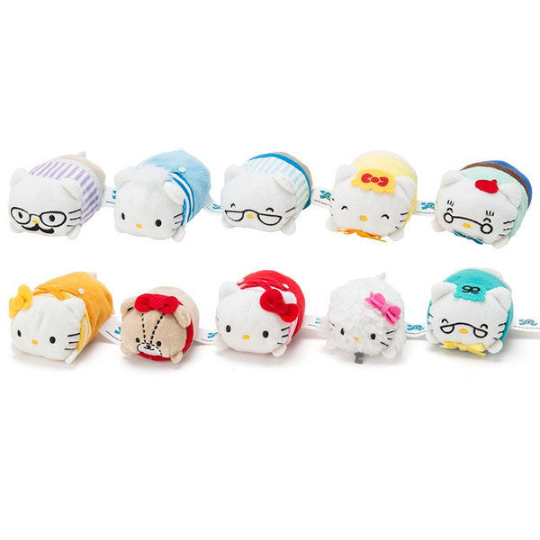 Hello Kitty Mame Petit Plush Mascot ACTION for the LOVE 10 pcs Set Sanrio Japan