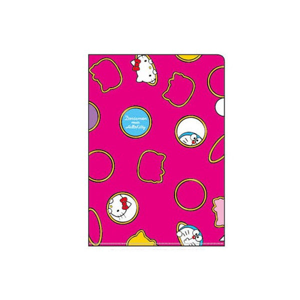 Sanrio Hello Kitty x Doraemon Anywhere Door Clear File Holder pink Japan