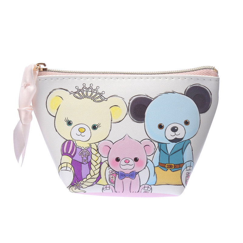 UniBEARsity Freund Frink Pink Glanzen Rose mini Pouch S Tangled Disney Japan
