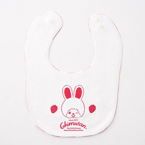 Chimutan Baby Bib Strawberry Strip Monchhichi Japan 2019