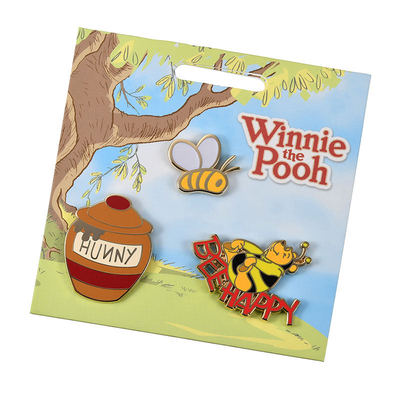 Winnie the Pooh Pin Badge Set Disney Store Japan