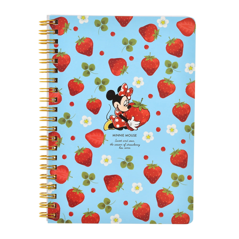 Minnie Ring Notebook Strawberry Ichigo 2021 Disney Store Japan