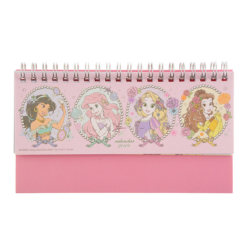2019 Calendar Desktop Slim Princess Party Disney Store Japan