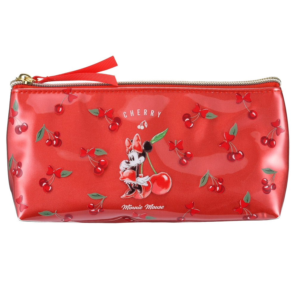 Minnie Pen Case Pencil Pouch CHERRY Disney Store Japan