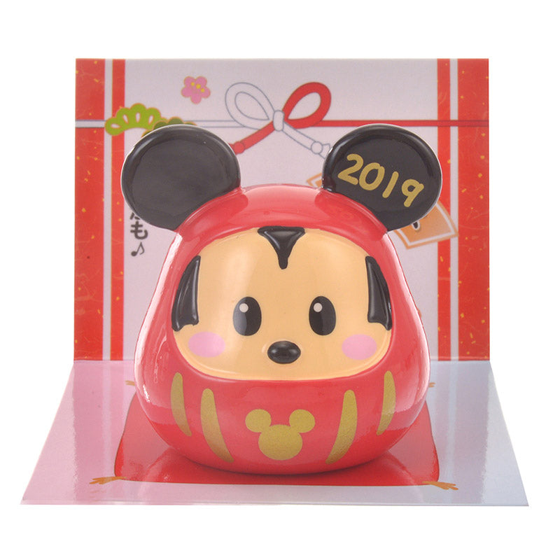 Mickey Daruma Macot Disney Store Japan