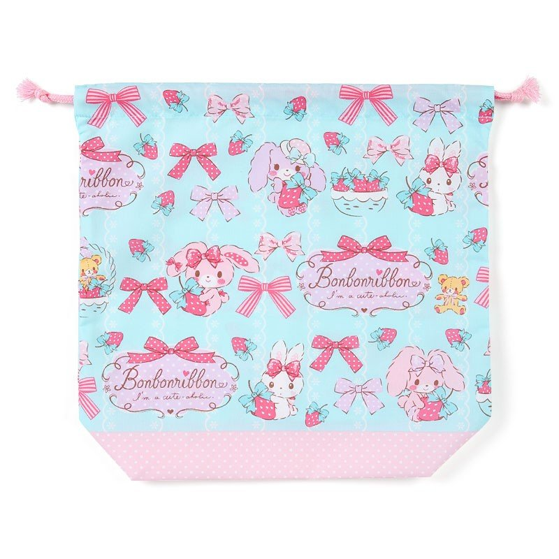 Bonbonribbon Drawstring Pouch Strawberry Sanrio Japan