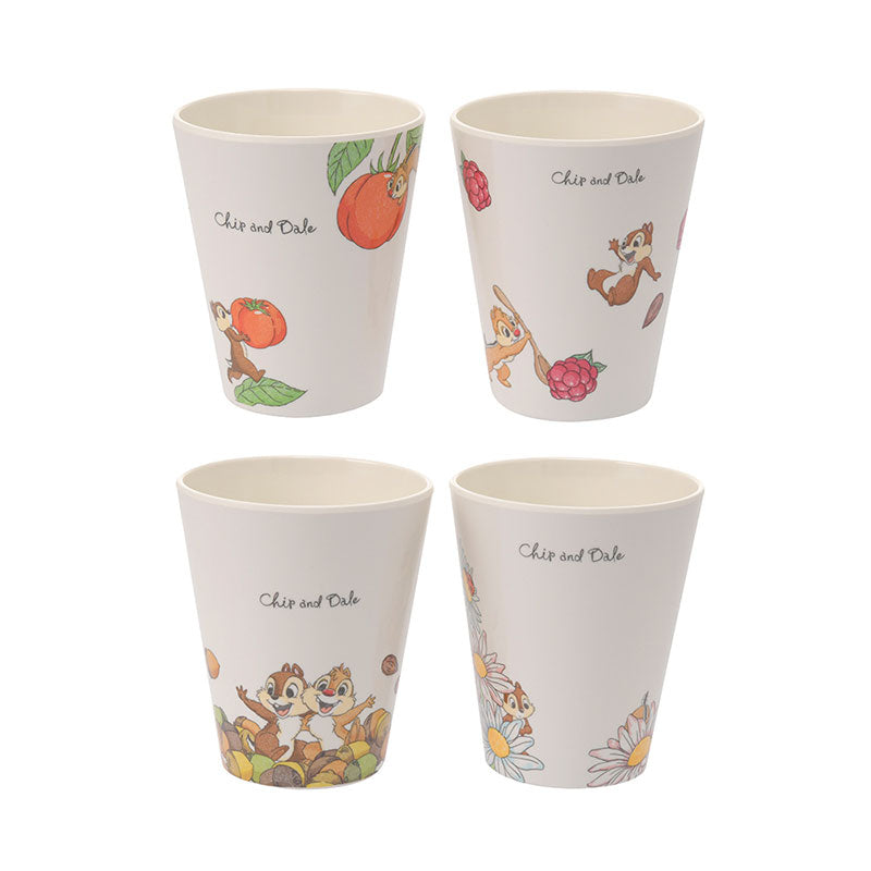 Chip & Dale Melamine Cup 4pcs Set Plants Disney Store Japan