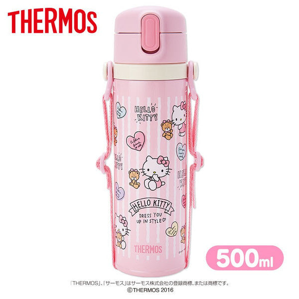 Hello Kitty Thermos Stainless Bottle Tumbler 500ml Cold Pink Sanrio Japan