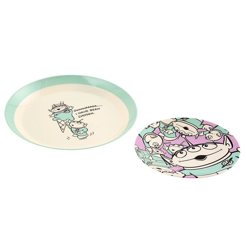Alien Plate Set Sherbet Color Disney Store Japan Toy Story