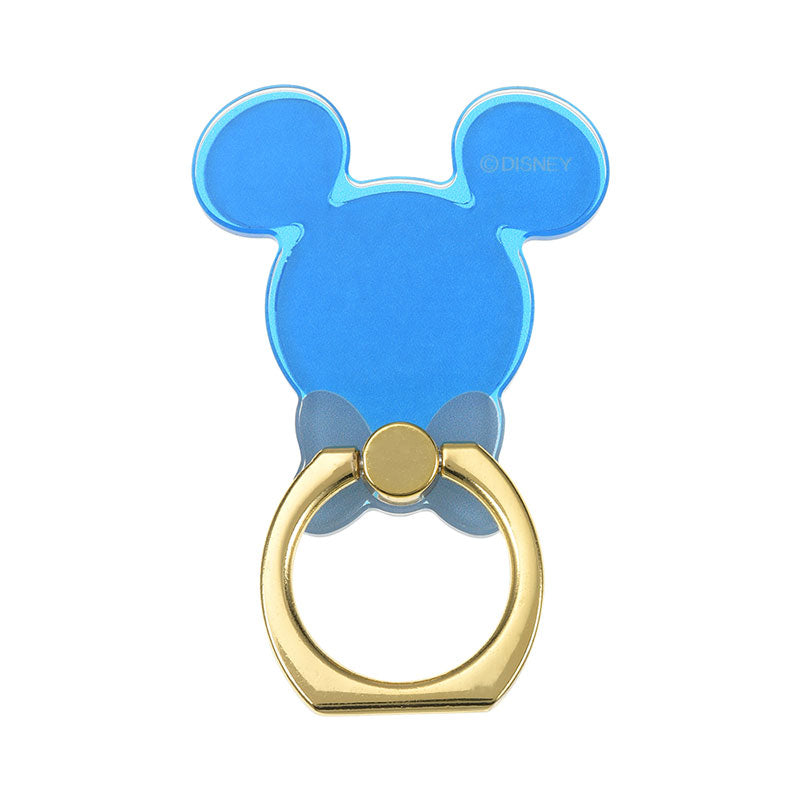 Mickey Smartphone Ring Clear Blue D.I.Wow! Disney Store Japan