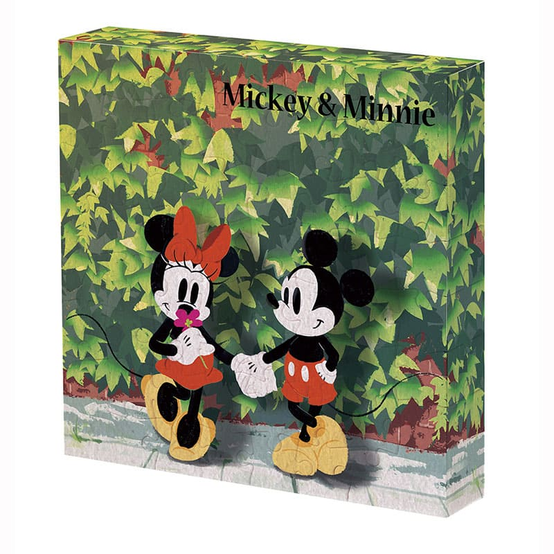 Mickey & Minnie Canvas Puzzle Sunbeams Date Disney Store Japan 56 pieces