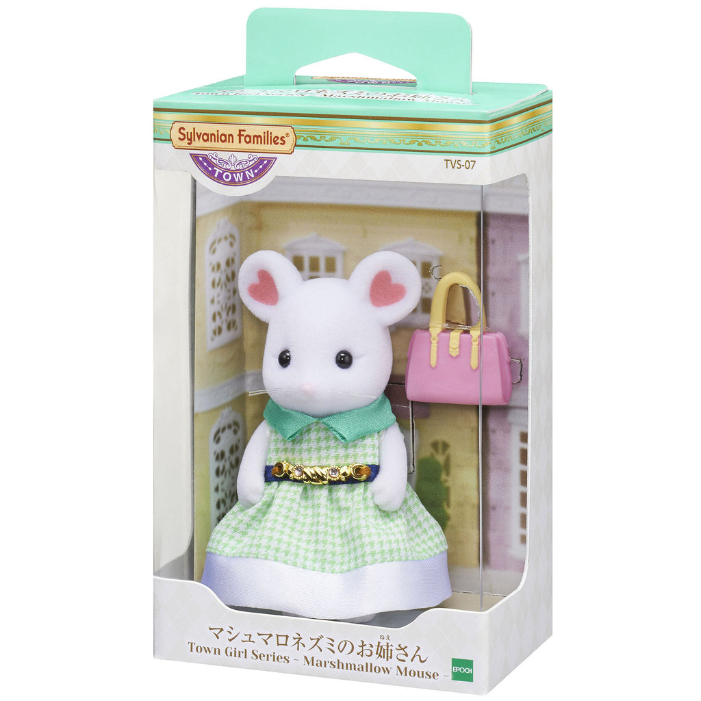 Town Series Girl Marshimallow Mice TVS-07 Sylvanian Families Japan EPOCH