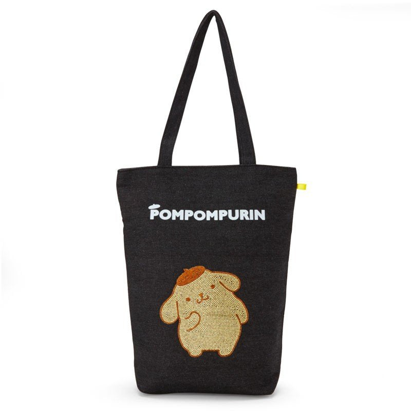 Pom Pom Purin Denim Tote Bag Glitter Sanrio Japan