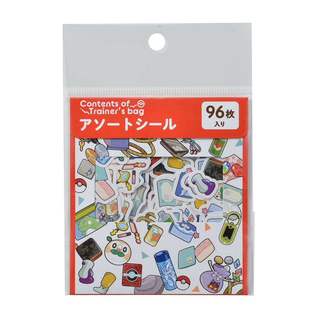 Assort Sticker Contents of Trainer's bag RD Pokemon Center Japan Original